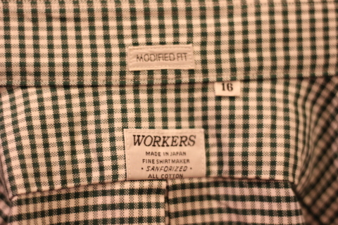 「WORKERS」 Modified BD, 2020, Green Check Supima Oxford ご紹介_f0191324_08593953.jpg