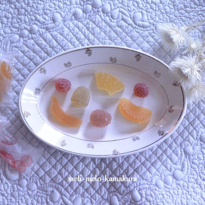 ◆フランスアンティーク*金彩が可愛いオーバルラヴィエ_f0251032_18251720.jpg