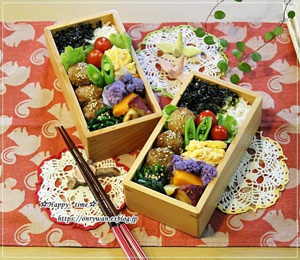 肉団子の甘酢餡弁当と食パン♪_f0348032_17025903.jpg