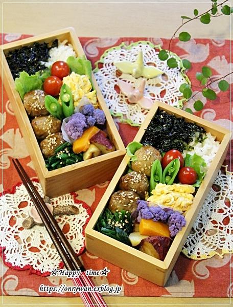 肉団子の甘酢餡弁当と食パン♪_f0348032_17030630.jpg