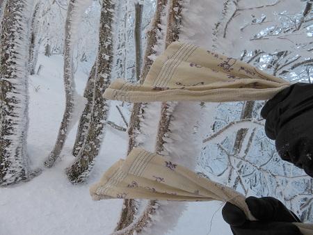 今年初のスノーシューで樹氷の森を堪能!!【台高・明神平界隈】1/19 ★MSRライトニングアッセントを加工修理する_d0387443_09445570.jpg