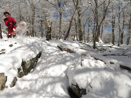 今年初のスノーシューで樹氷の森を堪能!!【台高・明神平界隈】1/19 ★MSRライトニングアッセントを加工修理する_d0387443_09450065.jpg