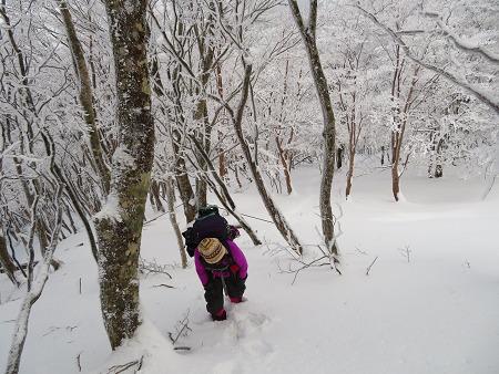 今年初のスノーシューで樹氷の森を堪能!!【台高・明神平界隈】1/19 ★MSRライトニングアッセントを加工修理する_d0387443_09453616.jpg