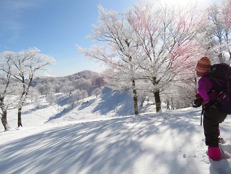 今年初のスノーシューで樹氷の森を堪能!!【台高・明神平界隈】1/19 ★MSRライトニングアッセントを加工修理する_d0387443_09454586.jpg