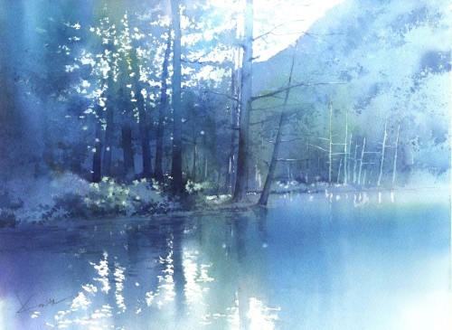 一枚の繪 2.3月号 水彩画 春崎幹太_f0176370_13423805.jpeg