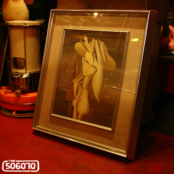 Vintage 東郷青児 工芸印刷 アートフレーム 二科展_e0243096_20082434.jpg