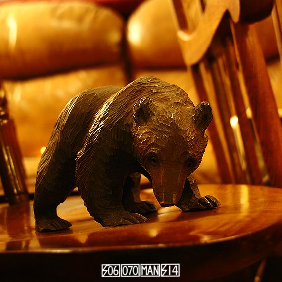 1960s Vintage ガラス目 小さな熊の木彫り 八雲_e0243096_20172397.jpg