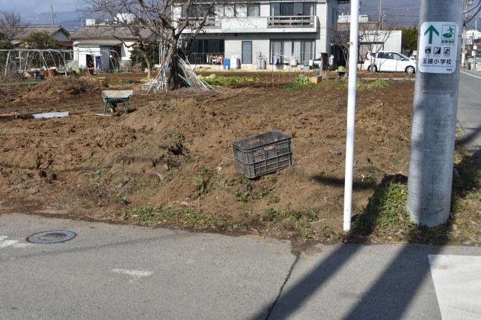 野菜畑の南東隅の石を撤去しました。_f0189218_16341462.jpg