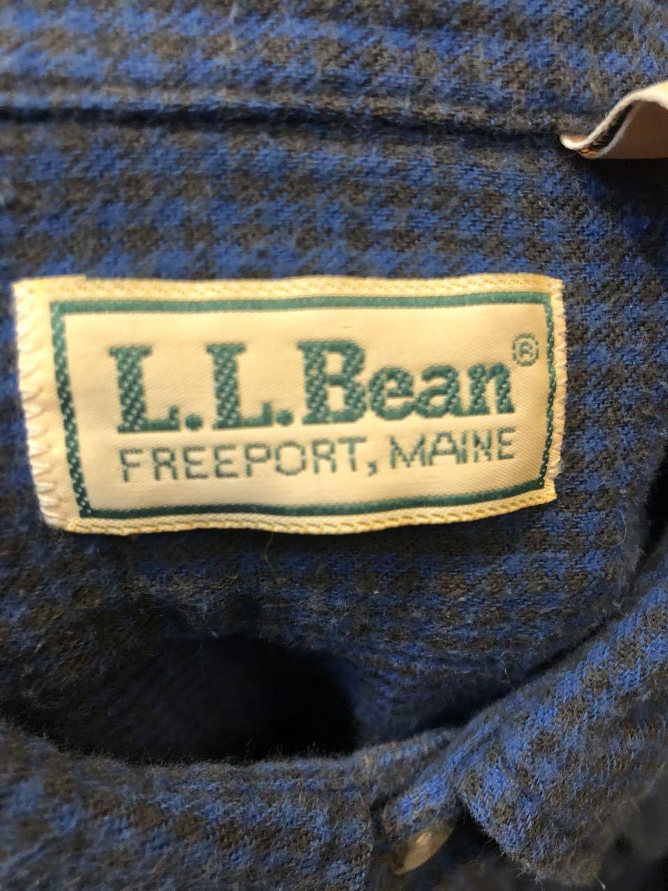 1月25日(土)入荷!80s MADE IN U.S.A  L. L Bean ライト ネルシャツ!_c0144020_13190661.jpg