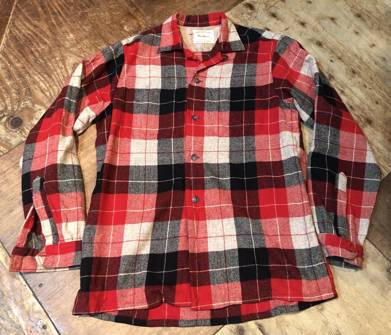 1月25日(土)入荷!60s Marlboro Wool オープンカラーシャツ!_c0144020_13235949.jpg