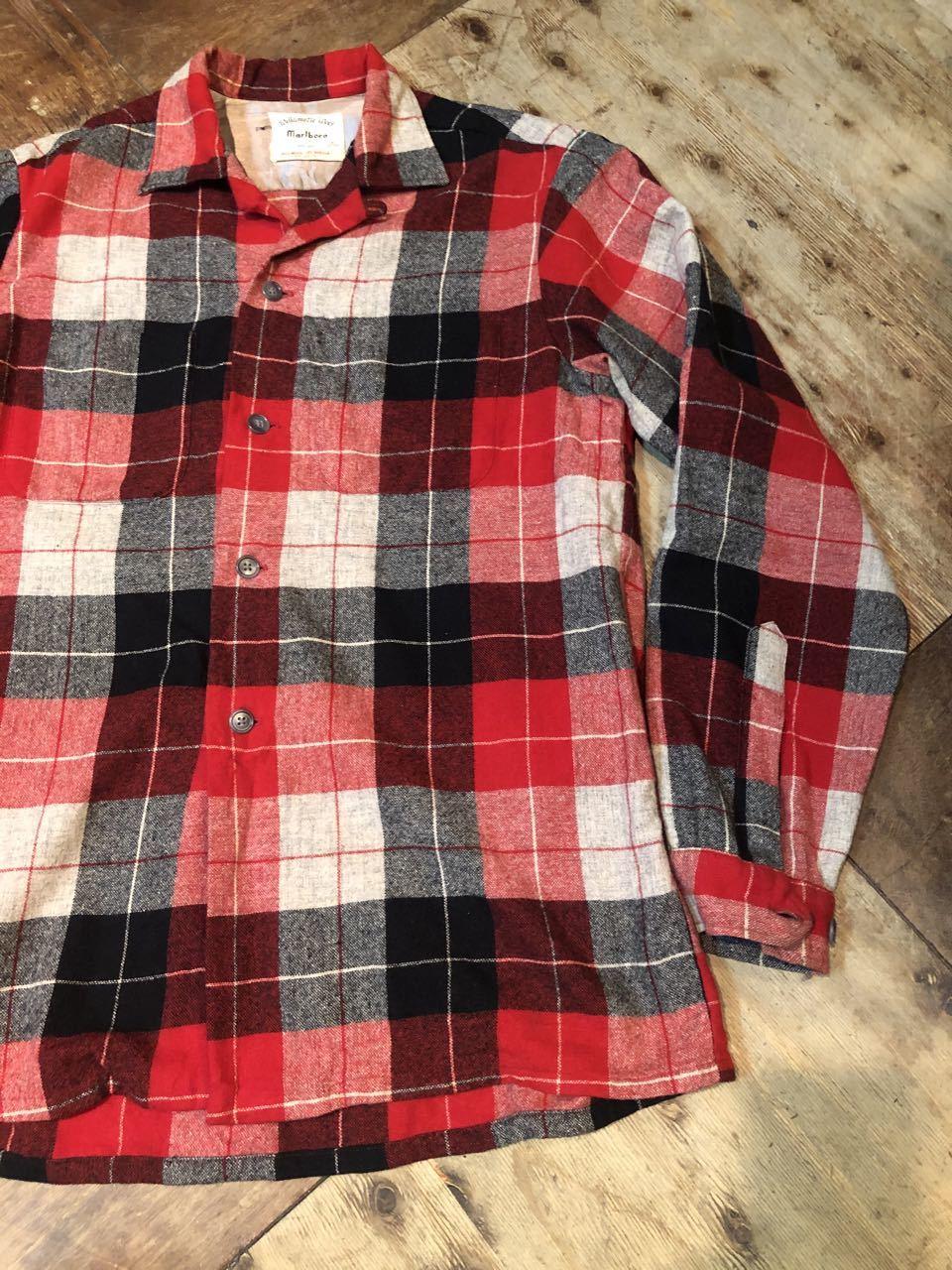 1月25日(土)入荷!60s Marlboro Wool オープンカラーシャツ!_c0144020_13240110.jpg