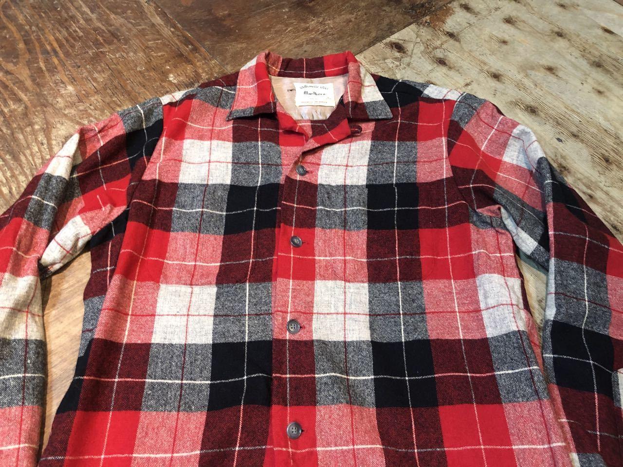 1月25日(土)入荷!60s Marlboro Wool オープンカラーシャツ!_c0144020_13240330.jpg
