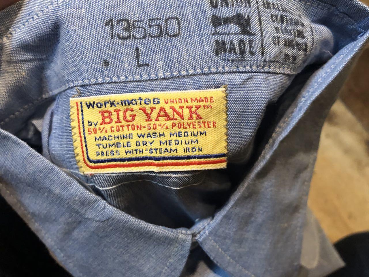 1月25日(土)入荷!70s〜デッドストック BIGYANK シャンブレーシャツ!_c0144020_13353151.jpg