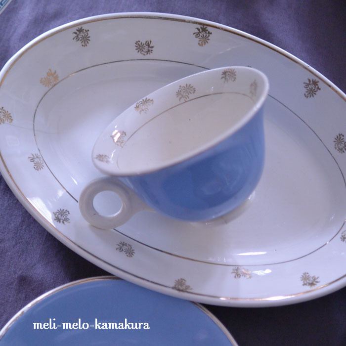 ◆フランスアンディーク*絵柄で繋がるプレートとカップ_f0251032_21274270.jpg