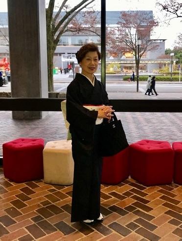 野田さんコンサートのお客様・結城紬や楽器の帯。_f0181251_17390620.jpg