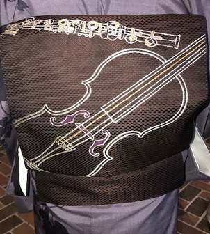 野田さんコンサートのお客様・結城紬や楽器の帯。_f0181251_17460529.jpg
