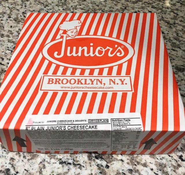 ブルックリンから全米No1のチーズケーキ届く_e0350971_14092536.jpg