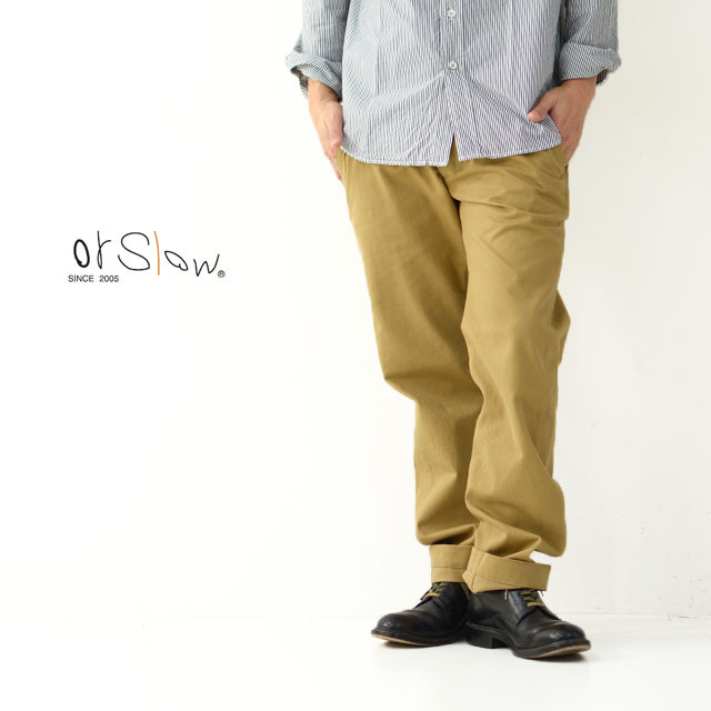 orslow [オアスロウ] M SLIM FIT ARMY TROUSERS [01-5361-40] メンズ・スリムフィット・チノパンツ・MEN\'S _f0051306_15165400.jpg