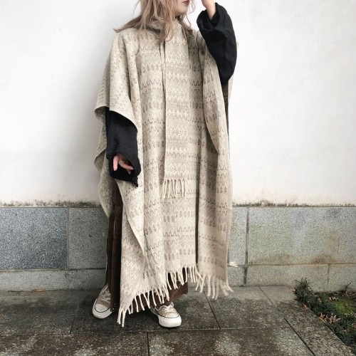 Retro Vintage Blanket Poncho Design Coat✨_a0182112_12394629.jpg