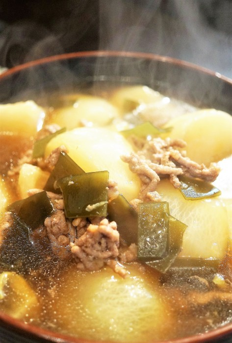 ■晩ご飯【蕪のそぼろ餡かけ煮】圧力鍋使用でとろける美味しさです♪_b0033423_22295329.jpg