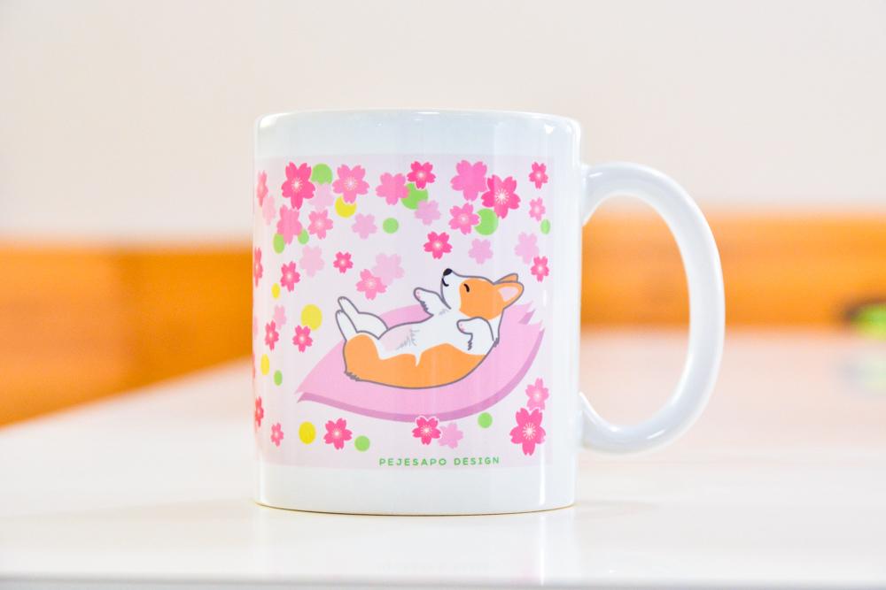 小麦ちゃんマグカップと桜マグ_d0102523_15030894.jpg