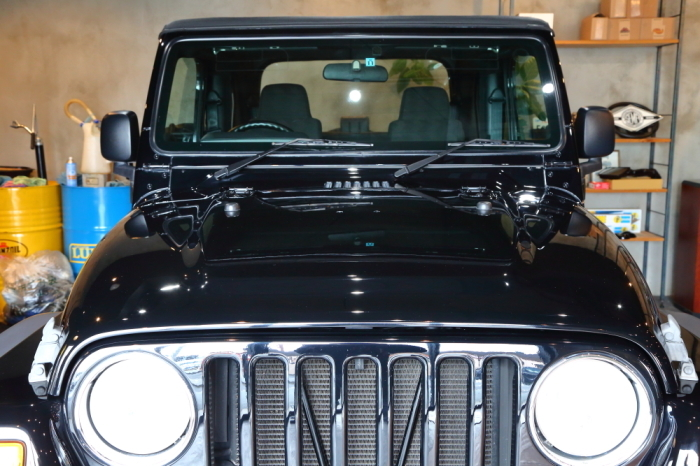 ブラックTJ外装作業完了からライトカーキも仕上げ開始_f0105425_18120147.jpg