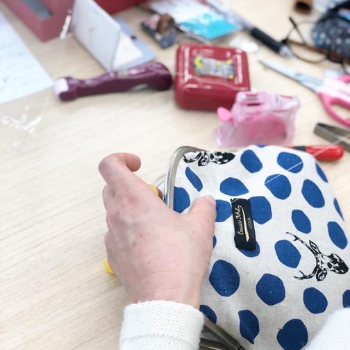 キルトジャパン『手縫いで作るがま口ポシェットWS』素敵な作品が完成♪_f0023333_20493338.jpg