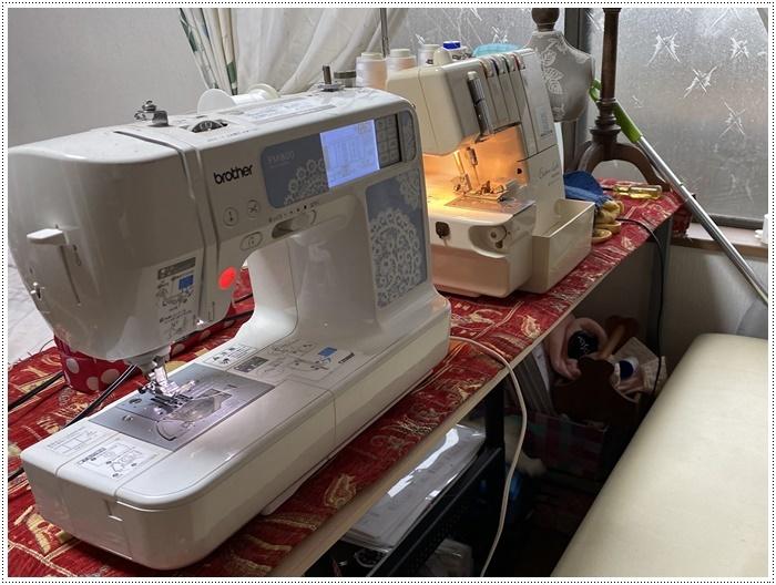 やっとロックミシンの糸通しが終わったので、わんこ服や小物作りを始めようかな~_b0175688_20120345.jpg