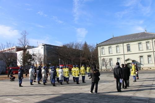 重要文化財・旧米沢高等工業学校本館にて消防訓練を行う_c0075701_11042438.jpg