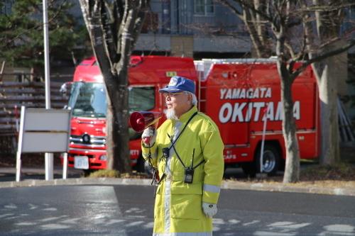 重要文化財・旧米沢高等工業学校本館にて消防訓練を行う_c0075701_11043795.jpg