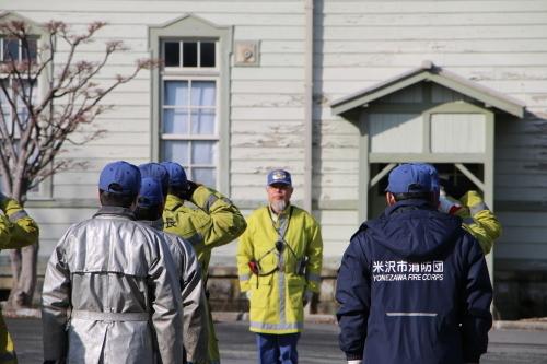 重要文化財・旧米沢高等工業学校本館にて消防訓練を行う_c0075701_11044886.jpg