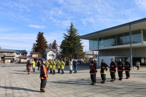 重要文化財・旧米沢高等工業学校本館にて消防訓練を行う_c0075701_11053477.jpg