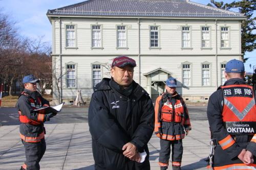 重要文化財・旧米沢高等工業学校本館にて消防訓練を行う_c0075701_11053822.jpg
