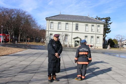 重要文化財・旧米沢高等工業学校本館にて消防訓練を行う_c0075701_11054440.jpg