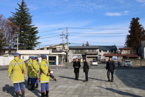 重要文化財・旧米沢高等工業学校本館にて消防訓練を行う_c0075701_11054856.jpg