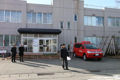 重要文化財・旧米沢高等工業学校本館にて消防訓練を行う_c0075701_11063834.jpg