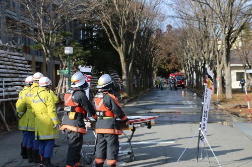 重要文化財・旧米沢高等工業学校本館にて消防訓練を行う_c0075701_11064211.jpg