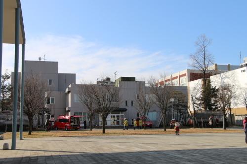 重要文化財・旧米沢高等工業学校本館にて消防訓練を行う_c0075701_11080785.jpg