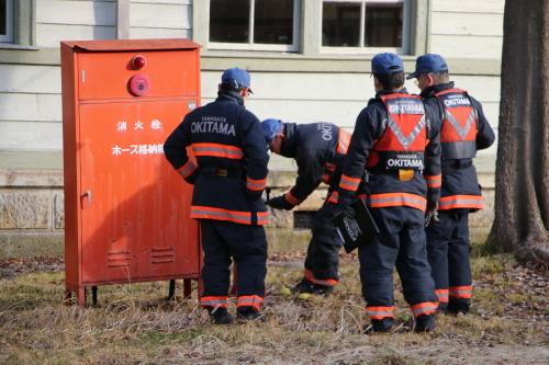 重要文化財・旧米沢高等工業学校本館にて消防訓練を行う_c0075701_11090470.jpg