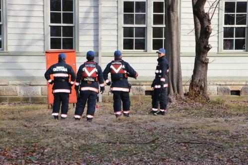 重要文化財・旧米沢高等工業学校本館にて消防訓練を行う_c0075701_11091283.jpg