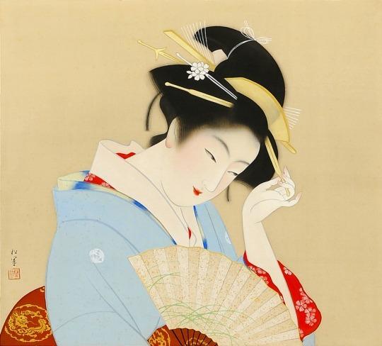 「上村松園と美人画の世界」@山種美術館_c0153302_16185572.jpg