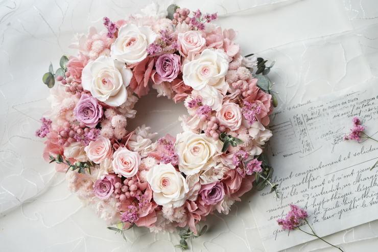 桜色リース_a0136507_21141312.jpg