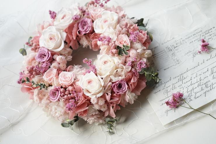 桜色リース_a0136507_21143009.jpg