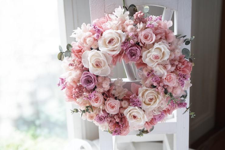 桜色リース_a0136507_21184441.jpg
