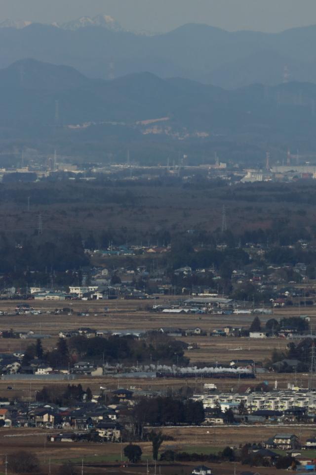 那須の雪山をバックに芳賀野を白煙が走る - 2020年冬・真岡鉄道 -_b0190710_18331775.jpg