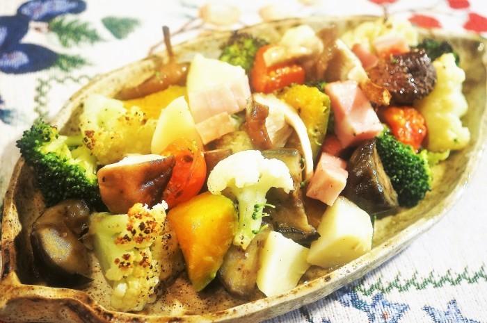 ■副菜【寒いときはホットサラダがいいね♥^^】これならお野菜が幾らでも食べられちゃいます♪_b0033423_20191179.jpg