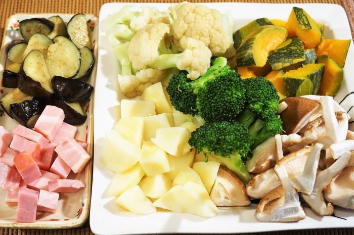 ■副菜【寒いときはホットサラダがいいね♥^^】これならお野菜が幾らでも食べられちゃいます♪_b0033423_20214059.jpg