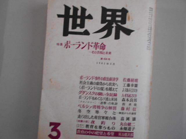 1981年の雑誌『世界』_b0050651_09434921.jpg