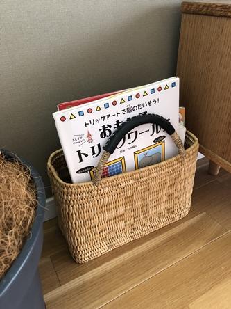 新しいラグと本の一時置き_d0291758_1553580.jpg