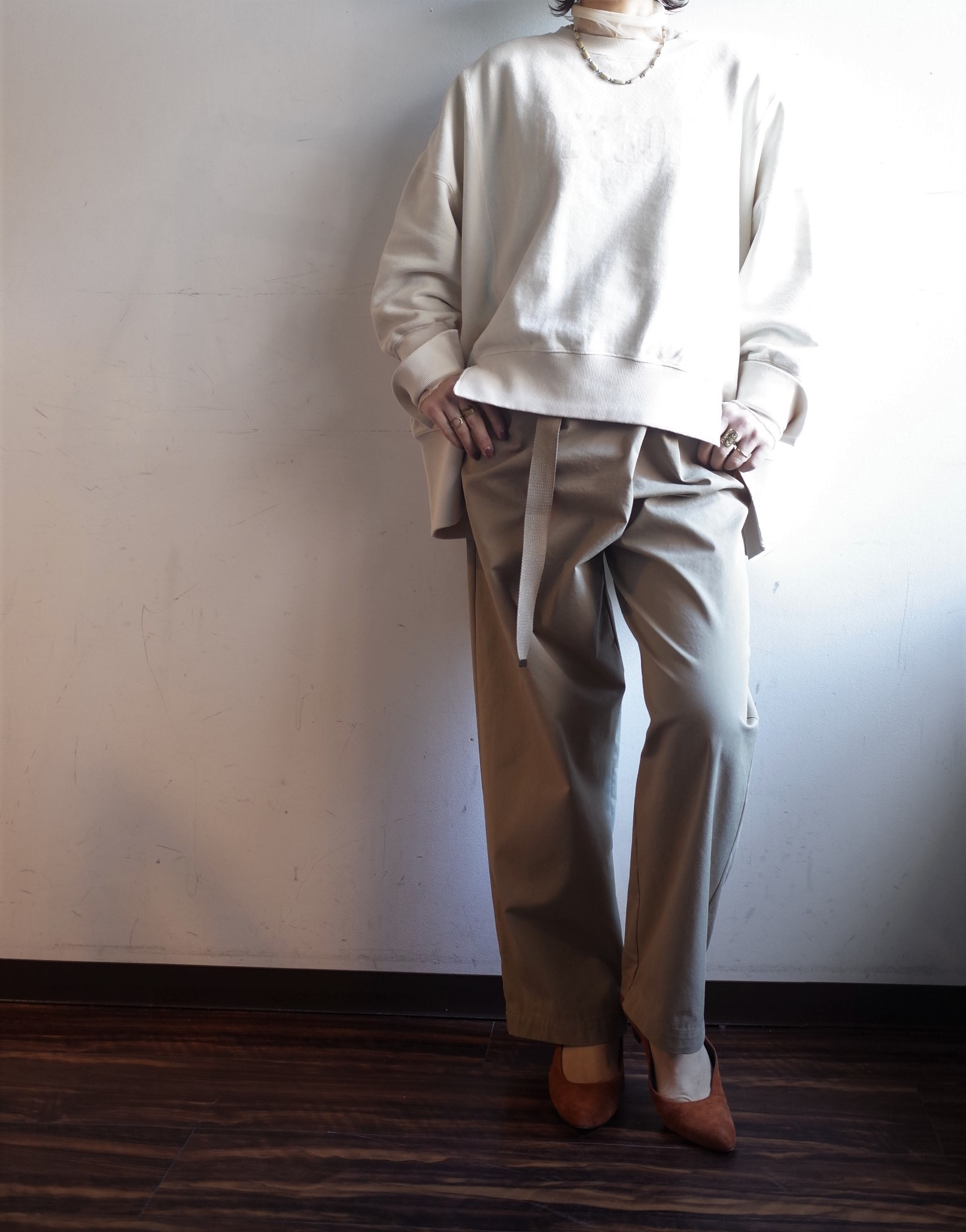 QUINOA BOUTIQUE◆裏毛プリントBIG SWEAT◆_e0269968_13560825.jpg